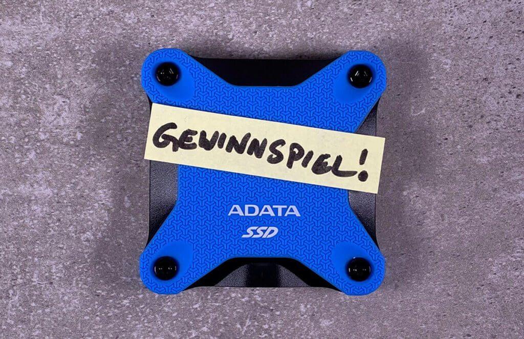 Gewinne die ADATA SSD SD600Q mit 480 GB – gebraucht, aber dafür handgeprüft von Doc. Sir Apfelot. ;-)