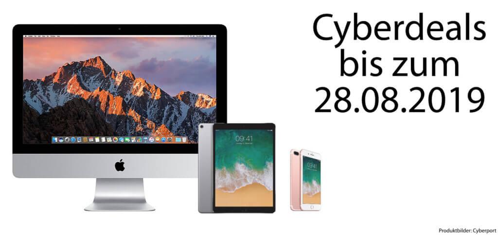 Apple iMac, iPad Pro und iPhone 7 Plus – diese Woche gibt's diese drei Geräte günstiger. Den Weg zu den Cyberport Cyberdeals findet ihr hier!