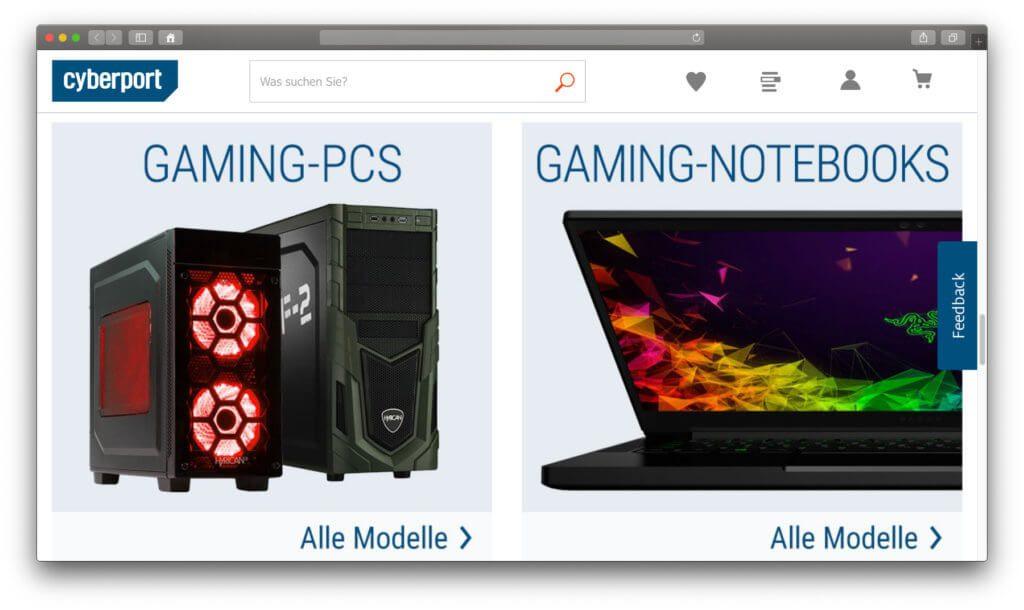 Cyberport Gaming Sale – fertige PCs und Notebooks zum Zocken sowie Bauteile, Zubehör und mehr günstiger kaufen! Nur noch bis 25. August 2019!