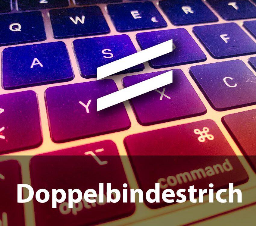 Doppelbindestrich unter macOS