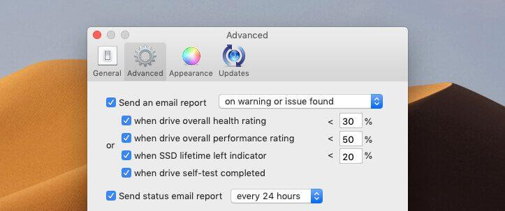Die Reports, die per E-Mail verschickt werden, lassen sich in den Einstellungen einrichten.