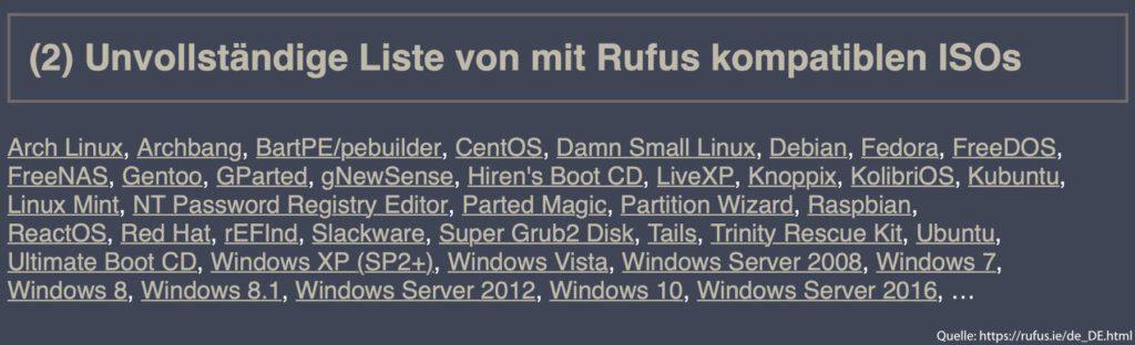 Mit Rufus unter Windows könnt ihr einen bootbaren USB-Stick erstellen – von Windows, Linux und vielen anderen Betriebssystemen.
