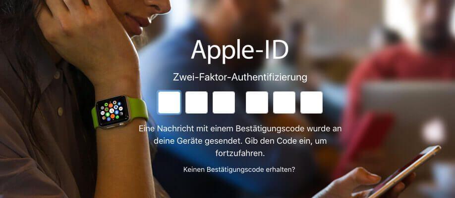 Dieses Fenster mit der Code-Eingabe kennt jeder, der sich hin und wieder in seinen iCloud-Account einloggt.