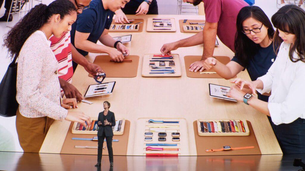 """Im Apple Store soll das """"Apple Watch Studio"""" dabei helfen, für jede/n die passende Uhr zusammenzustellen."""