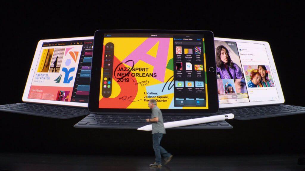 Das neue iPad der 7. Generation mit 10,2 Zoll Display kommt mit A10 Fusion Chip und iPadOS daher.