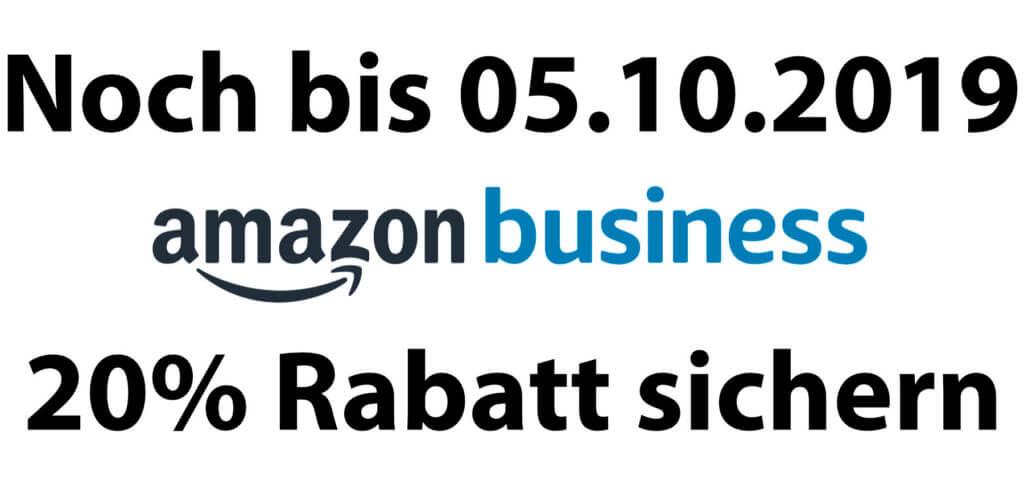 Mit einem kostenlosen Amazon Business Account könnt ihr euch aktuell 20 % Rabatt auf Einkäufe bis 100 € sichern. Weitere Vorteile findet ihr nebst dem Gutschein-Code auf der verlinkten Aktionsseite.