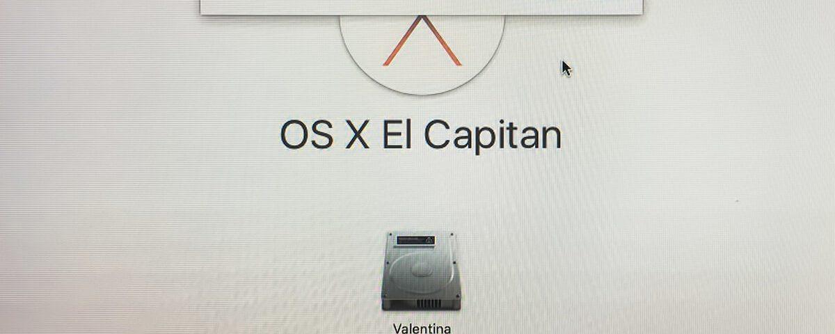 Fehlermeldung bei der Installation von OS X El Capitan.
