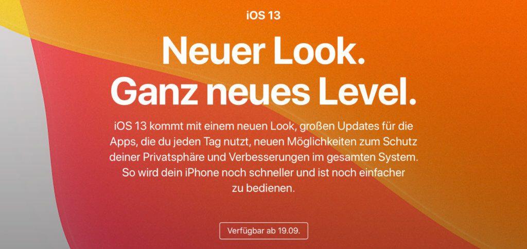 Ab dem 19.09.2019, also ab heute, könnt ihr iOS 13 auf dem iPhone installieren. Vor dem iOS-Upgrade solltet ihr aber ein System-Backup machen. Das geht per iCloud und per iTunes.