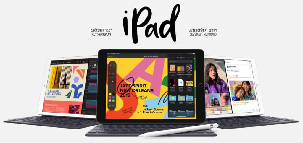 Das neue Apple iPad 10,2 Zoll (2019) ist ab 379,- € zu haben. Technische Daten, weitere Preise und Bilder sowie ein Video findet ihr hier.