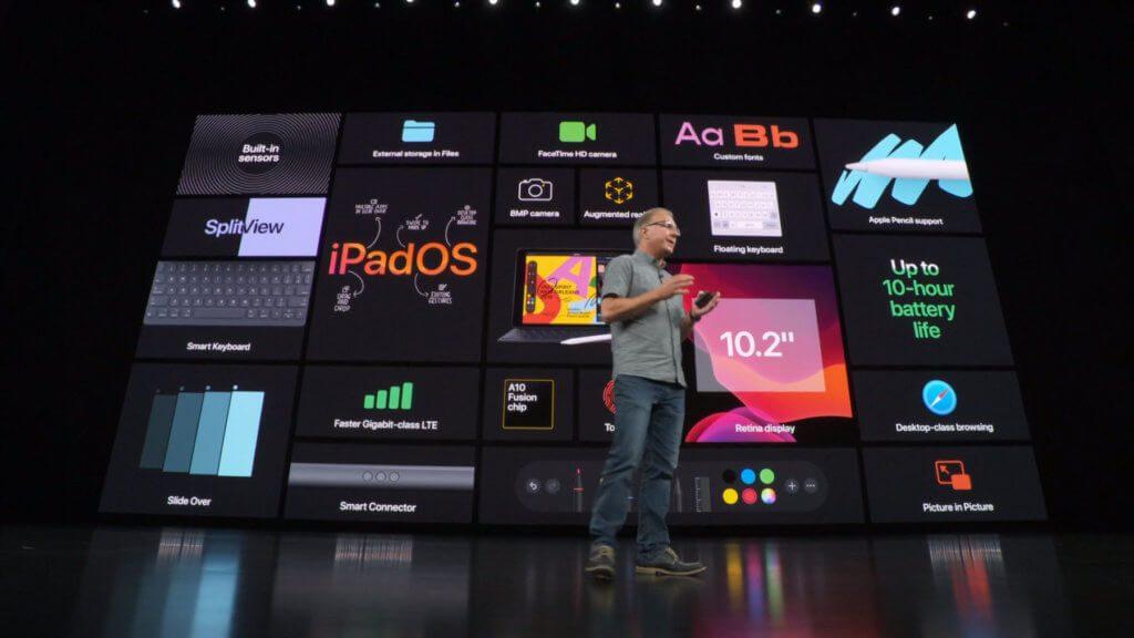 Das neue iPad mit 10,2 Zoll Display bringt iPadOS als Betriebssystem mit und ist mit dem Apple Pencil (1. Generation) nutzbar.