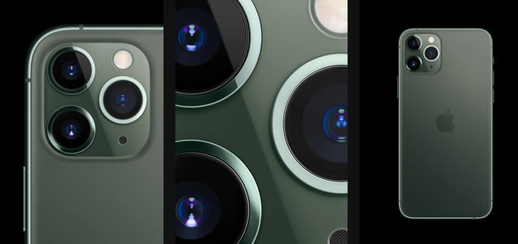 Das Apple iPhone 11 Pro / 11 Pro Max kommt mit einer Triple-Kamera daher. Vereint werden hier Tele-, Weitwinkel- und Ultra-Weitwinkel-Linse. Zudem gibt es iOS 13, den A13 Bionic Chip und weitere starke Specs.