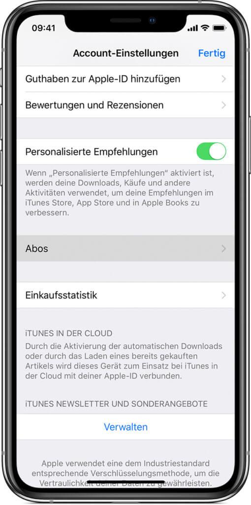 Direkt am iPhone ein App-Abonnement oder Probeabo kündigen geht auch. Bild: Apple.com