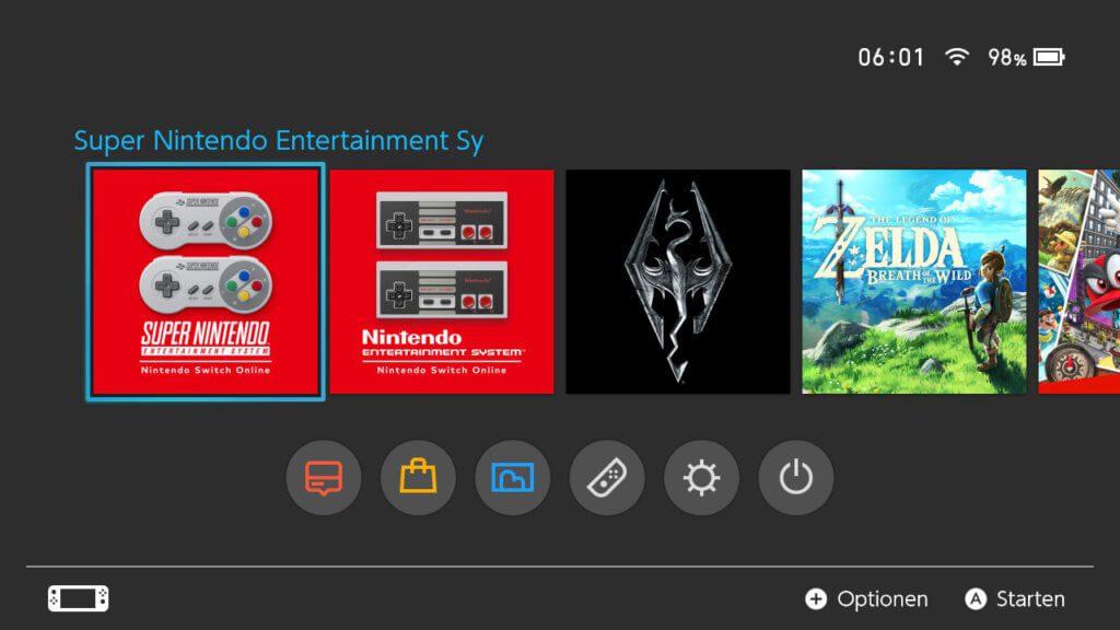 """Für Abonnenten von """"Nintendo Switch Online"""" steht im eShop der Konsole nun eine kostenlose App für SNES-Spiele zur Verfügung."""