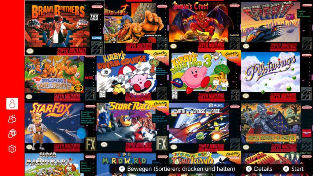 Die SNES-Spieleauswahl umfasst zum Start des Switch-Dienstes 20 Titel. Diese werden sicher, wie beim NES-Angebot, monatlich erweitert.