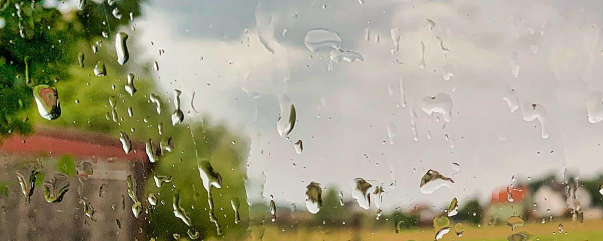 Schönes Regenfoto