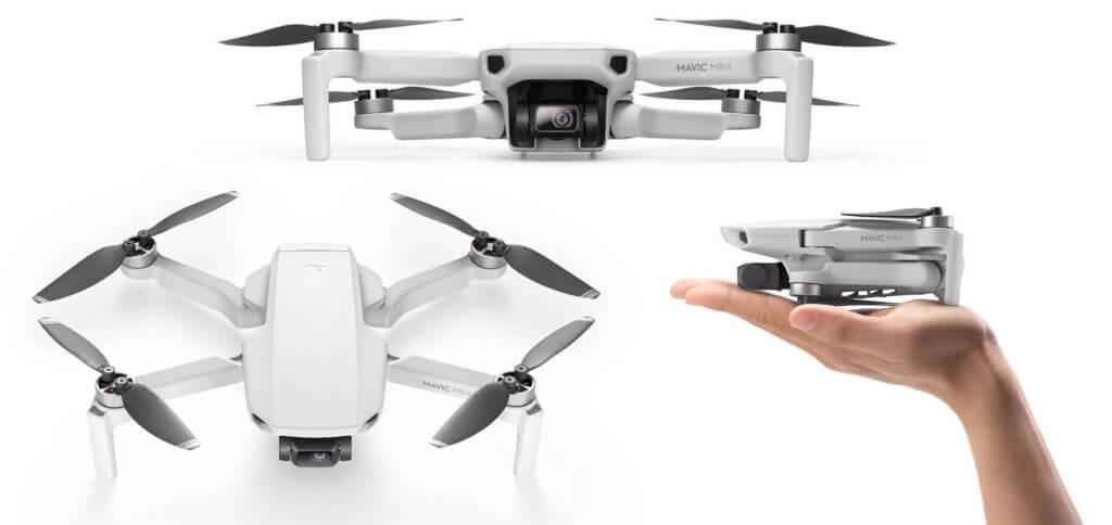 Die neue DJI Mavic Mini Drohne bietet einen Einstieg in die Aufnahme von Fotos und Videos aus der Luft. Bilderquelle: dji.com