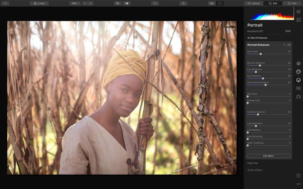 Auch Portraits lassen sich automatisiert in der neuen Skylum-Software für professionelle Fotobearbeitung anpassen.