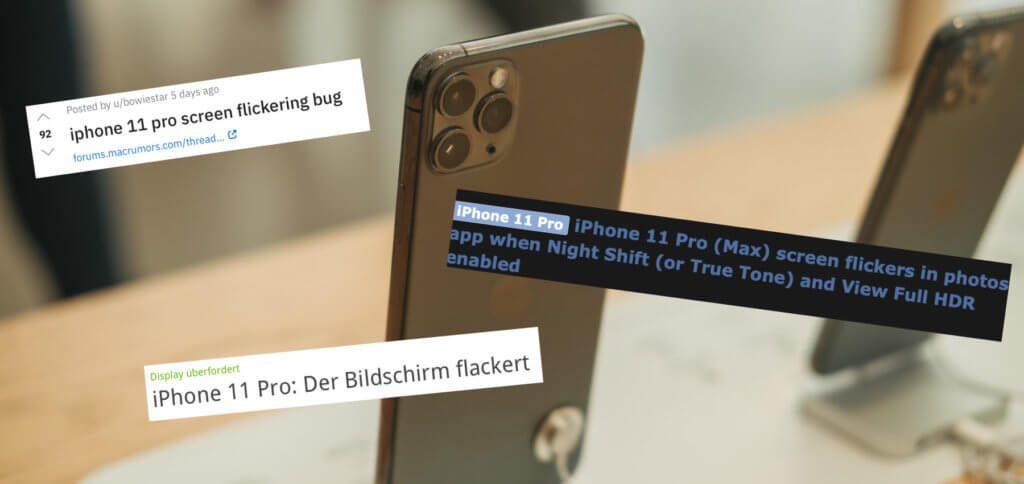 Wenn das Apple iPhone 11 Pro (Max) Display flackert, dann können True Tone, Night Shift und weitere Einstellungen daran Schuld sein. Hier ein paar Tipps gegen das Bildschirmflackern. Flicker Gate