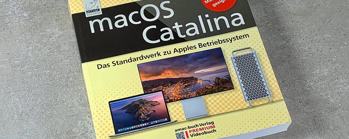 macOS Catalina – Das Standardwerk zu Apples Betriebssystem – eins der neuen Premium Videobücher des amac-buch Verlags (Fotos: Sir Apfelot).