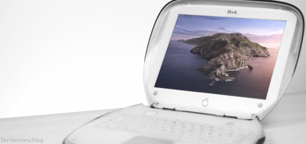 Auf ein iBook bekommt ihr das neue Betriebssystem natürlich nicht mehr, aber mit dem macOS Catalina Patcher könnt ihr die 10.15-Version auf anderen nicht-unterstützen Macs installieren.