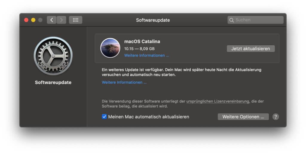 Das Upgrade auf macOS 10.15 Catalina steht bereit und ein regelmäßiger Update-Hinweis erinnert daran. Wie ihr die nervige Nachricht abschaltet, das lest ihr hier.