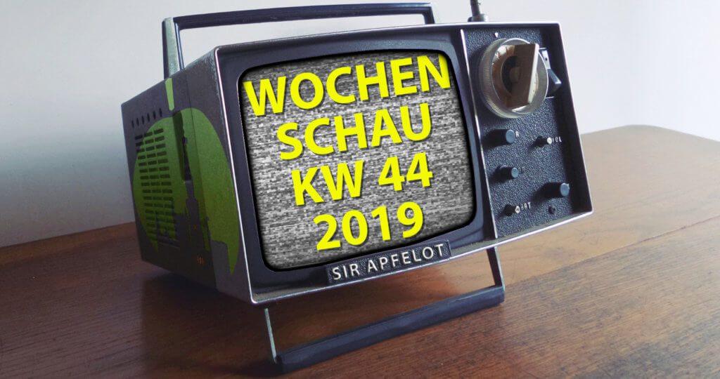 In der Sir Apfelot Wochenschau zur KW 44 in 2019 gibt's u. a. folgende Themen: iOS-Updates für alte und neue Geräte, Bilder des 16-Zoll-MacBook-Pro, tv+ Kritiken, Steuerbetrug und mehr.