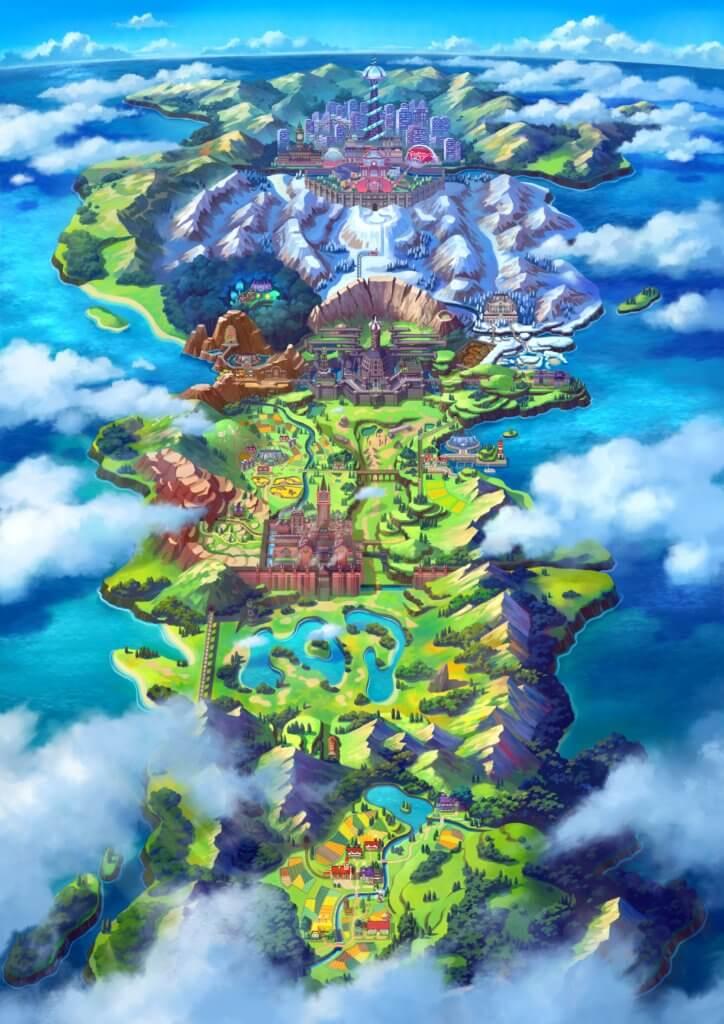 Pokémon Schwert und Pokémon Schild spielen sich in der Galar-Region ab; ab morgen auf der Nintendo Switch und Nintendo Switch Lite!