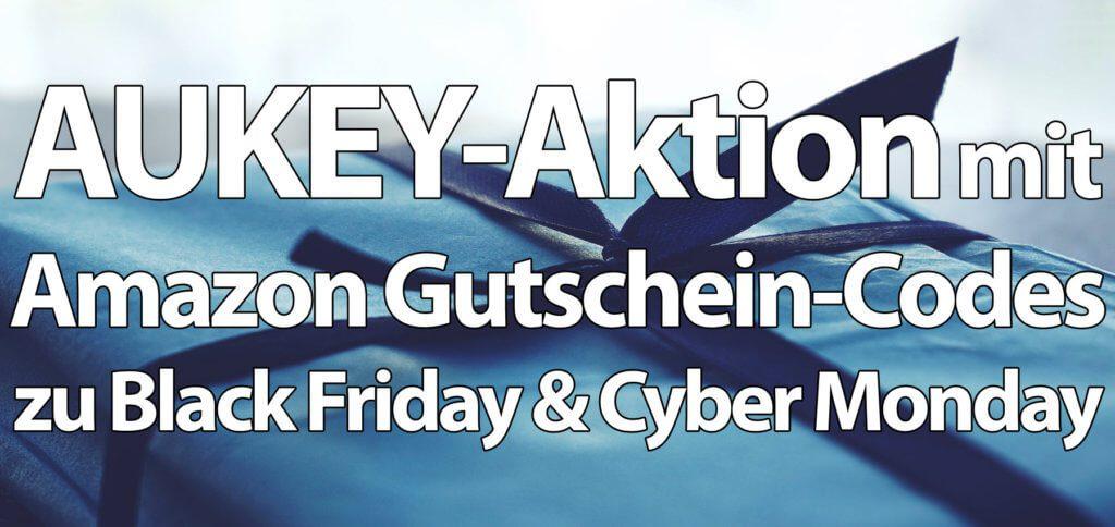 AUKEY-Aktion: Rabatte für Black Friday & Cyber Monday. Damit bekommt ihr Powerbanks, USB-C-Kabel, Ladegeräte und Qi Charger, USB-Hubs, ein Aroma-Diffuser, Bluetooth-Kopfhörer und weitere Produkte günstiger.