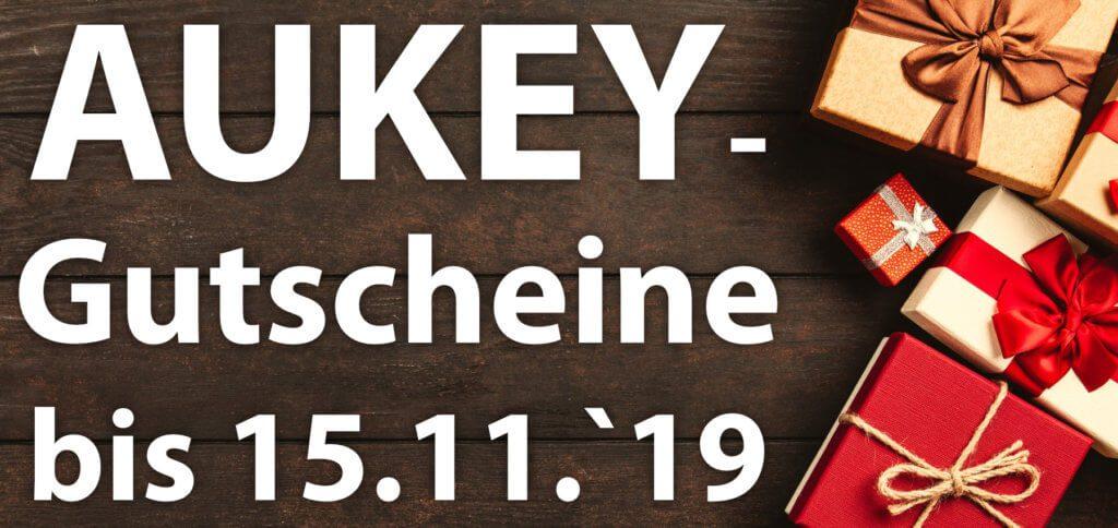 Zur Einstimmung auf den Black Friday 2019 gibt es ein paar AUKEY Amazon-Gutschein-Codes für verschiedene praktische Produkte des Herstellers.