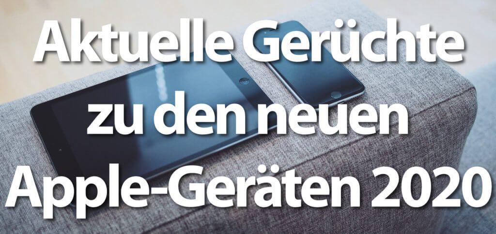 Das iPhone SE 2 oder 9 mit 4,7 Zoll Display, A13-Chip und Touch ID könnte Anfang 2020 erscheinen. Genauso das neue iPad Pro mit 2 Rückseitenkameras und 3D-Sensor mit Time-of-Flight-Technologie. Die meisten Gerüchte stammen von Ming-Chi Kuo und Mark Gurman.