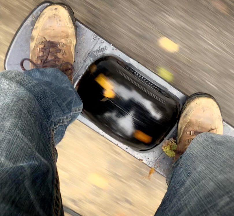 Fahren auf dem Onewheel Pint