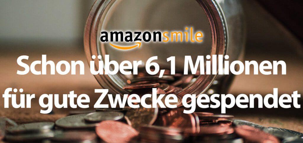 Kleine Beträge kommen durch die 0,5% beim Shoppen über Amazon Smile zusammen. Durch die vielen Kund/innen sind es aber bereits über 6,1 Millionen Euro geworden!