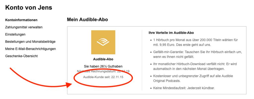 Ich hätte es selbst nicht gedacht, aber ich bin schon seit vielen Jahren zahlender Kunde bei Audible (Screenshots: Sir Apfelot).