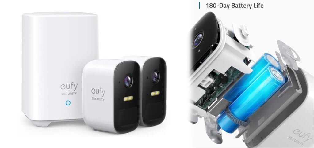 Die eufyCam 2 bildet mit der Homebase 2 ein praktisches, kabelloses Überwachungskamera-Set ohne zu viele Kabel. Mit 180 Tagen Akku-Laufzeit und 1080p Full-HD-Auflösung ist das eine schnelle und einfache Lösung für die Foto- bzw. Videoüberwachung von Haus und Hof.
