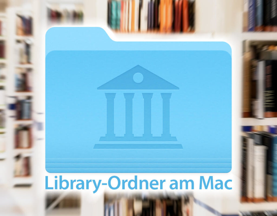 Wege in den Ordner Library am Mac