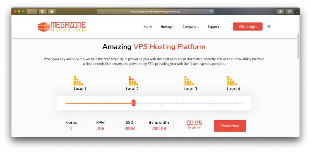 Stichprobe: Bei MegaZone Hosting kann man weiterhin VPS-Dienste buchen – ohne irgendeinen Hinweis darauf, dass heute der Service eingestellt werden soll.
