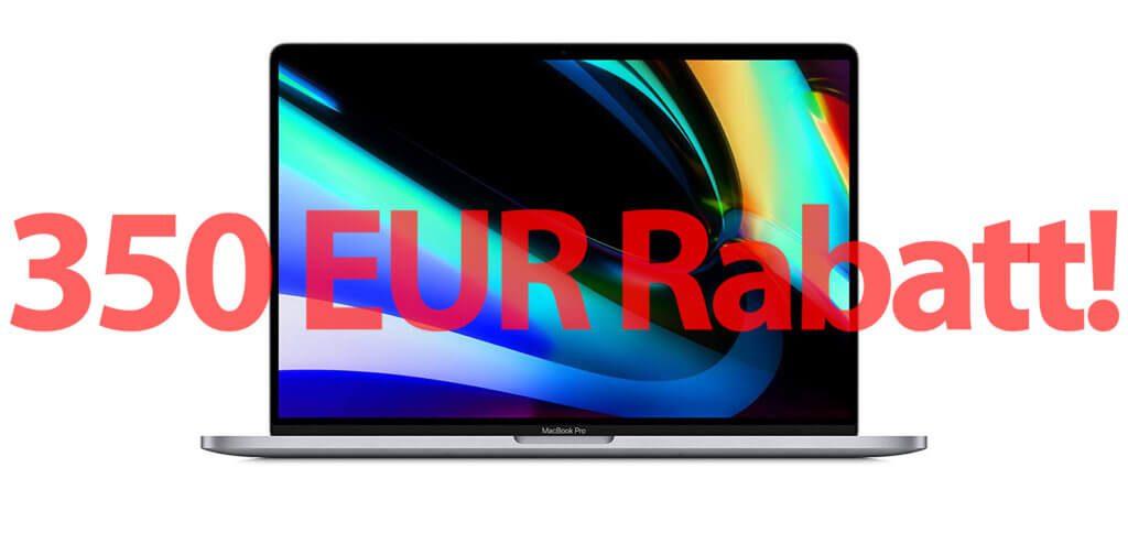 """Neues MacBook Pro mit 16"""" Display dank Rabatt von bis zu 350 Euro günstiger kaufen; das geht aktuell bei Amazon. Billiger als im Apple Store sowie mit schnellem Prime-Versand!"""