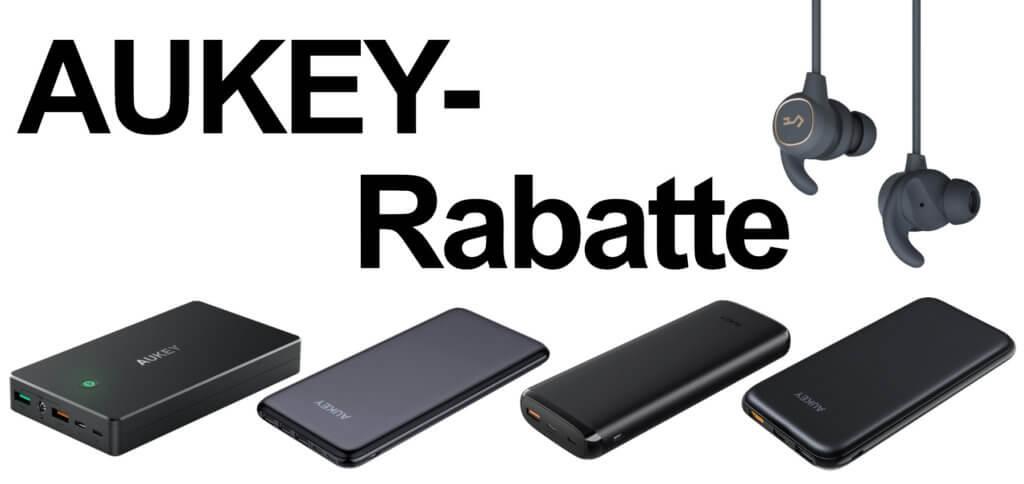 Vier Powerbanks und ein Paar Bluetooth-Kopfhörer von AUKEY bekommt ihr aktuell per Gutschein-Code günstiger.