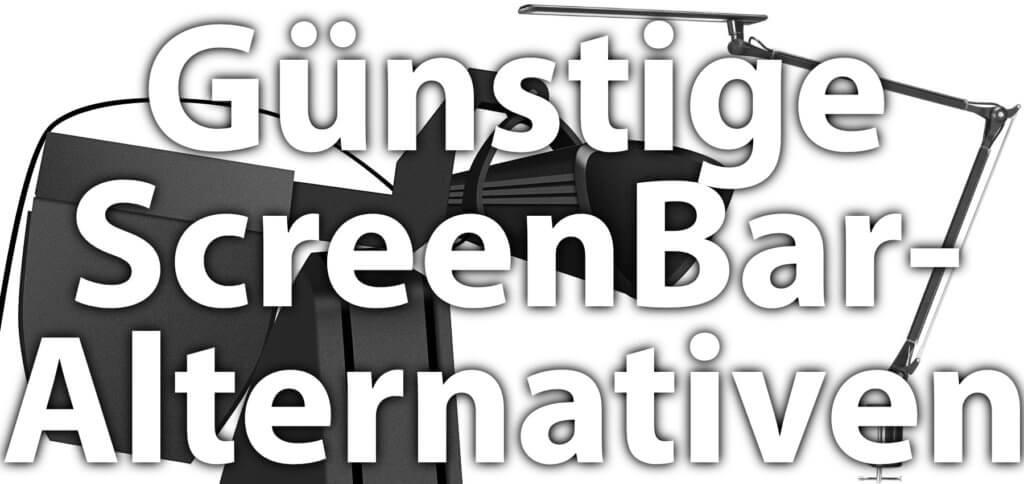 Ihr sucht eine billigere Alternative zur BenQ ScreenBar als Schreibtischlampe, die bei der Arbeit am Computer nicht stört? Hier findet ihr drei günstige Lampen im Vergleich.