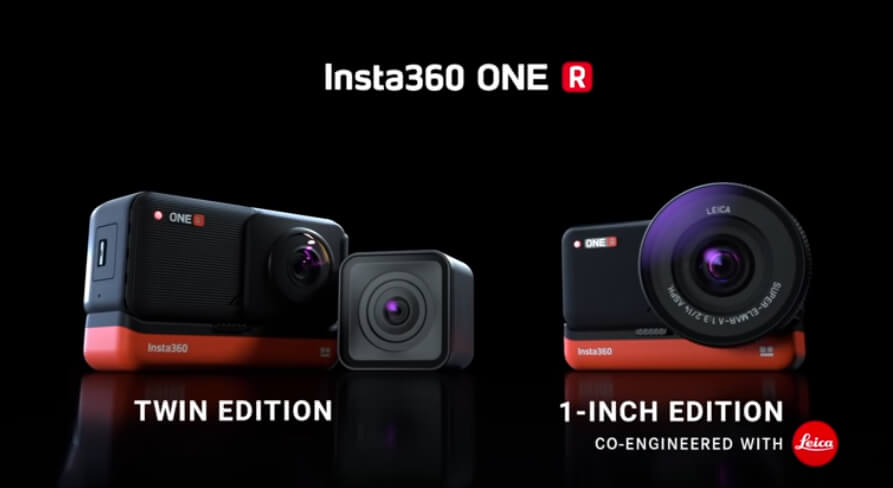 Die Insta360 One R gibt es in diversen Zusammenstellungen. Besonders im Fokus ist die Twin Edition und die 1-Inch Edition (Fotos: Insta360).