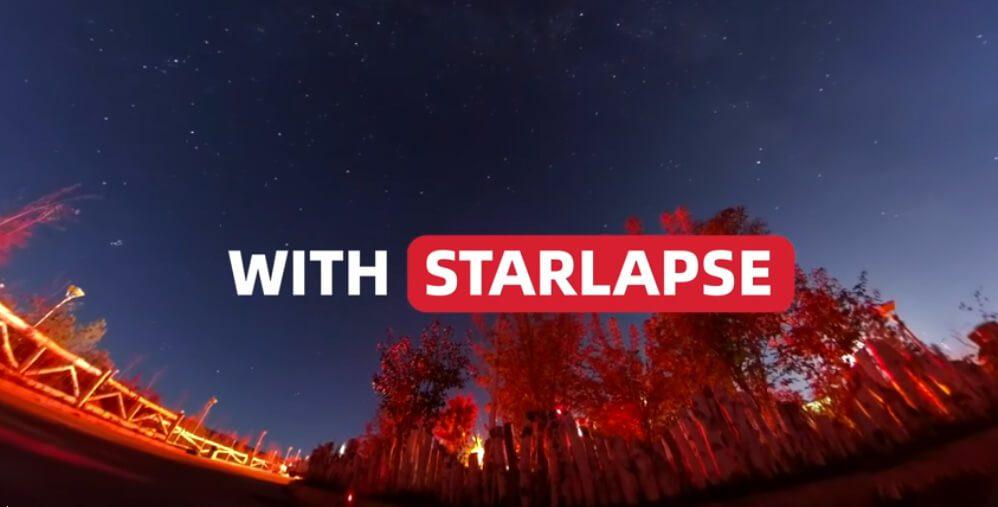 Durch die gute Low-Light-Performance konnte Insta360 auch einen Starlapse-Modus realisieren, in dem man zum Beispiel Sternspuren sichtbar machen kann.