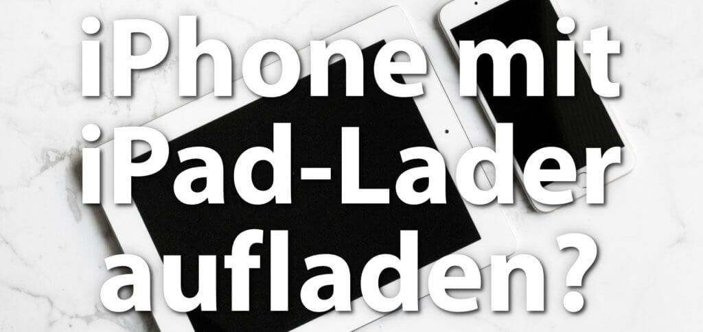 Kann es schaden, wenn man das iPhone mit dem iPad-Netzteil auflädt? Oder sollte man das Apple-Smartphone immer mit dem Tablet-Ladegerät laden? Hier findet ihr alle Antworten und Infos ;)