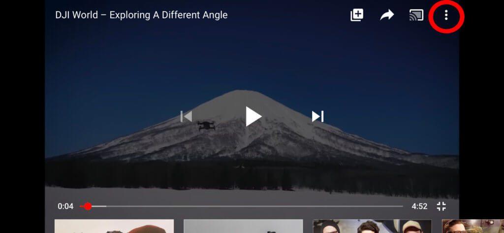 Um in der App die YouTube-Geschwindigkeit zu ändern, tippt ihr die drei Menüpunkte an...