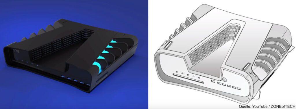 So kann die Sony PlayStation 5 aussehen. Patente und DevKits legen es nahe. Weitere Infos, Leaks, Gerüchte, Ankündigungen und den PS5 Preis findet ihr hier!