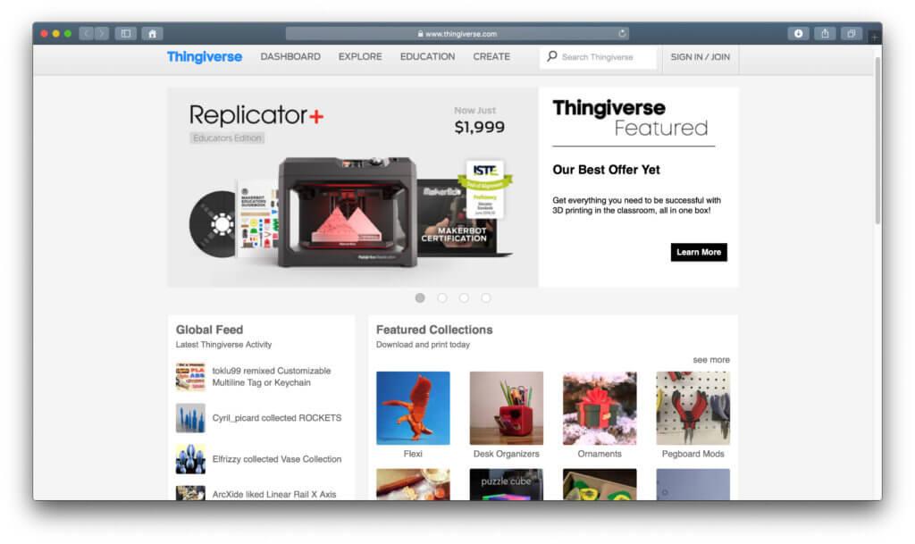 3D-Vorlagen kostenlos herunterladen und mit dem 3D-Drucker drucken. Das geht dank Thingiverse von MakerBot. Infos zur Seite und den angebotenen Vorlagen gibt's hier.
