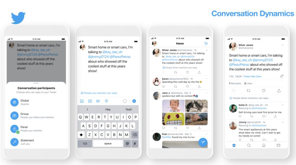 Mit Statement, Gruppe und Panel sollen auf Twitter neue Beitragsarten eingeführt werden – die bisherige Form nennt sich dann Global.