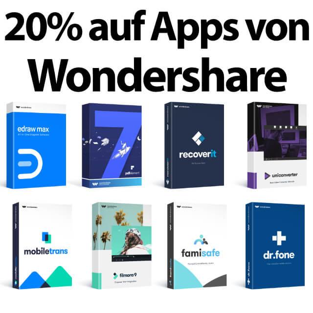 Wondershare Apps mit 20% Rabatt (Gutschein-Code) » Sir Apfelot