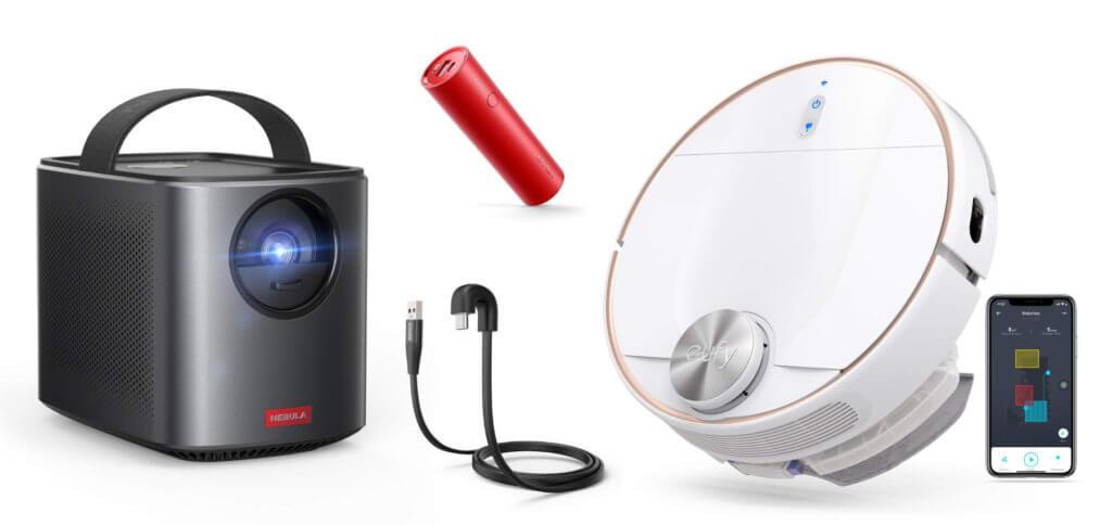 Ihr wollt Powerbanks, Kabel, Bluetooth-Lautsprecher und -Kopfhörer sowie Beamer und Staubsaugerroboter günstiger kaufen? Dann schaut euch mal die folgenden Anker-Angebote an ;)