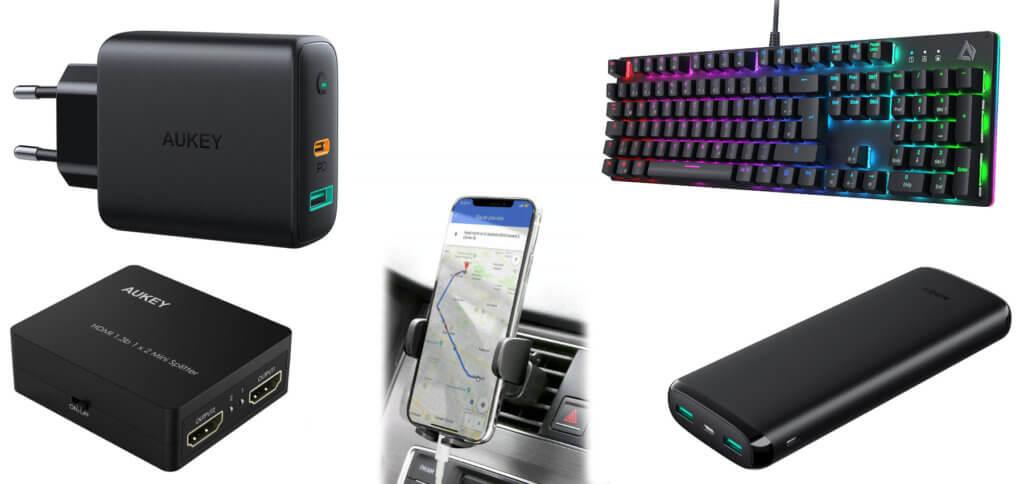 Ladegerät, Handy-Halterung fürs Auto, HDMI-Splitter, Tastatur oder Powerbank günstiger kaufen? Das geht mit diesen Gutscheincodes von AUKEY!