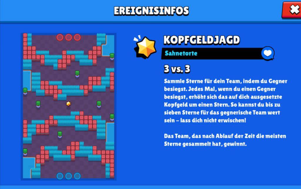 """Dies ist eine Map im Modus """"Kopfgeldjagd"""". In der Mitte ist ein Stern, den man schon sammeln kann. Oben und unten sind die Startpunkte der Spieler und in der Mitte findet meistens das Gekloppe statt."""